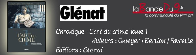 Bandeau de l'article L'art du crimes T01