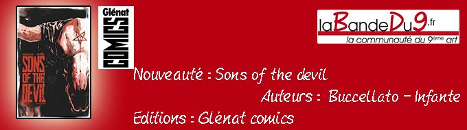 Bandeau de l'article Sons of the devil tome 1 - Le culte de sang